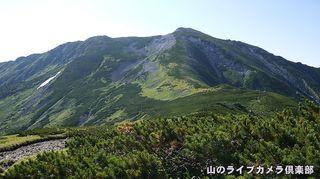 黒部五郎岳を望む