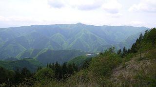 数馬峠から権現山方面を望む